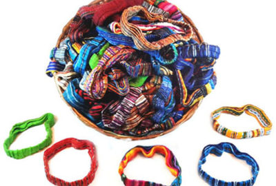 Accessories from Guatemala.Hand woven textile. Headbands and hairbands